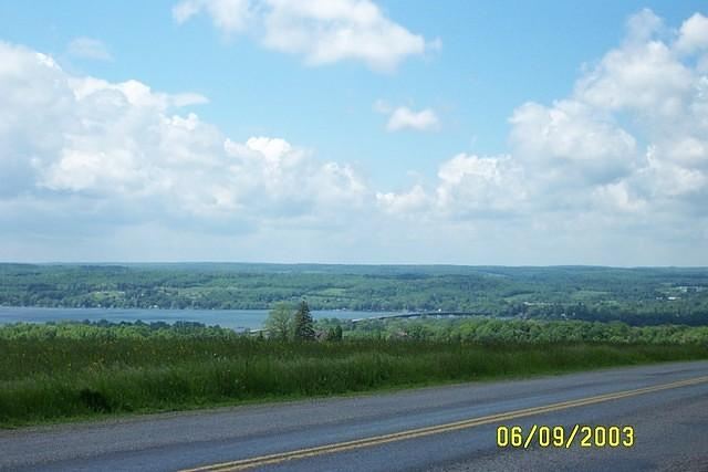 View of Chautauqua Lake & Veteran's Bridge from Maple Grove Rd