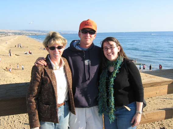 Ann, Mike, and Meli at Newport Pier.