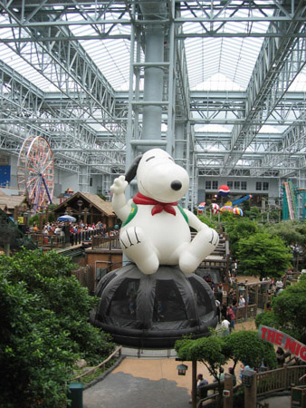we did worship at the shrine of our god, the Great Snoopy.