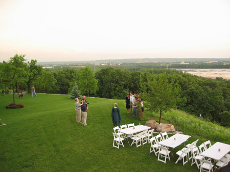 The bride's family's house overlooked the Mississippi river.