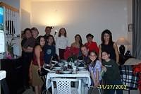 Uncle John, Jil, Joy, Uncle Albert, Josh, Leslie (Aaron's mom), Shirley (my mom), Aaron, Grandma, Aunt Jena, Haley and Cameron