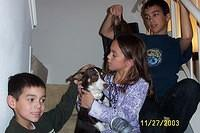 Cameron, Haley and Josh w/ Troy Dog