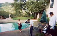 erica running thru the pool scene, jacob the filmer, and jason looking on