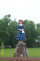 Lucy Statue near Celoron, suburb of Jamestown