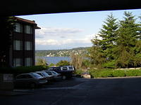 View of Lake Washignton from Em's parking lot