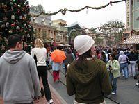 long-hai and nuala and the christmas tree on main street