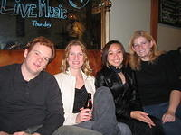 Aaron, Susan, Brandy and Erica - out on Clement Street