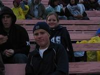 Brendan and Paige and one of their friends at the Coliseum