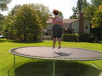 michele on the trampoline