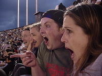 Ivan Christine Sean and Kelly react to Vladimir Guerrero dropping a sacrifice fly, allowing Oakland's second run to score. Chris