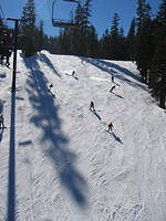 The steep slopes of Northstar at Tahoe