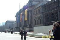 Outside the Metropolitan Museum of Art, on 5th Ave.