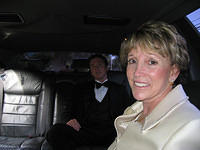 Ann (Meli's mom) and Mike in the limo