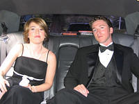 Mimi and Mike in the limo