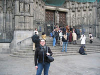 Meli at the Barcelona Cathedral