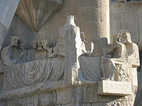 Last Supper sculpture at the Church of the Sagrada Familia