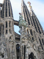 Spires at the Church of the Sagrada Familia