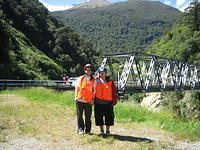 nuala and i.  we are not wearing these vests as a fashion statement.  we were biking down the haast pass and we have to wear the