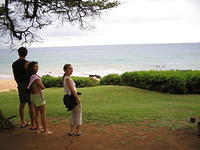 Checking out the closest beach to Frank and Leyla's condo - Kamaole III in Kihei, Maui.
