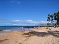 Our first full day - the beach near the Mana Kai hotel in Kihei, Maui.