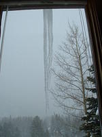 World's largest icicle, right outside my window.
