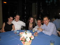 "Kristen, Gene, Kati, Jay and Cody - at the ""friends"" table"