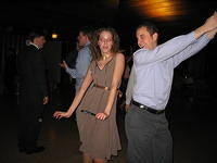 Kati and Cody getting down (That's not red-eye on Kati; it's her awesomely gold make-up)