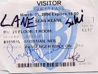 WB lot visitor card signed by castmembers of 'Gilmore Girls'