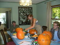 Pumpkin carving at the Larson's