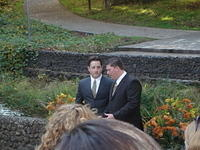 Dustin and Sean... Groom and Minister