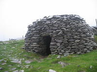 Prehistoric bee hive hut (no mortar required).