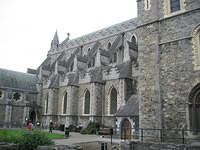 The flying buttresses of Christ Church Cathedral.