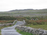 Path leading to Dun Aenghus cliff fort, Inishmore (Aran Islands).