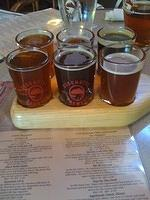 We also ate at the Deschutes brewpub a couple of times. Gene got the sampler tray and was VERY happy!