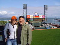 SF Fit 2005 Jakki an me at SF Fit baseball game